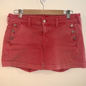 7 Seven for All Mankind salmon pink red shorts 27